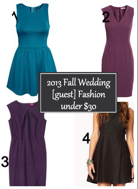 2013 Fall Wedding Guest Fashion Under 30