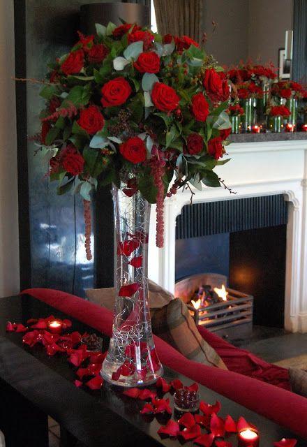 Stunning red rose arrangement