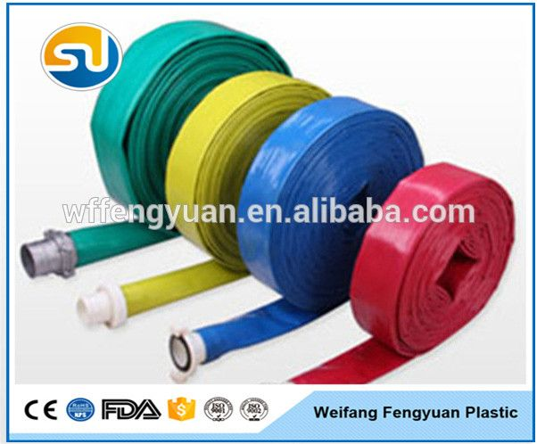 Professional pvc high pressure large diameter layflat hose pipe with low price