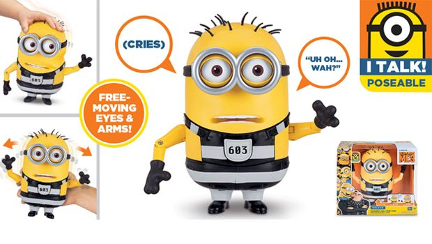 TALKING MINION ACTION FIGURE TALKING JAIL TIME TOM