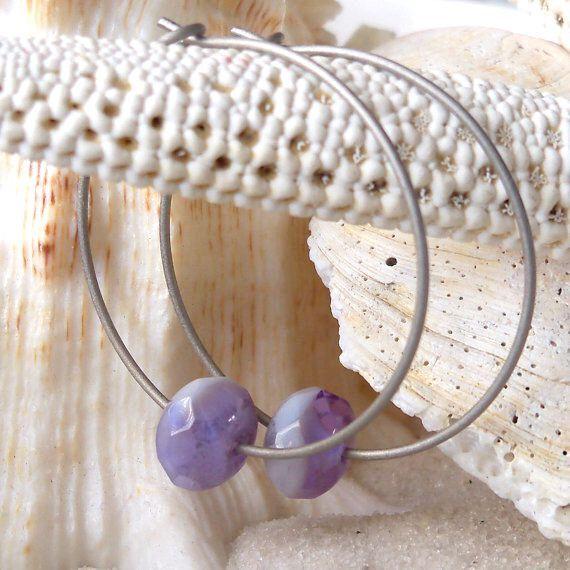 Titanium Hoop Earrings - Hypoallergenic Earrings for Sensitive Ears - Titanium Earrings - Czech Glass Bead Earrings - Nickel Free Earrings by CraftLikeAnArtist on Etsy https://www.etsy.com/listing/228311914/titanium-hoop-earrings-hypoallergenic