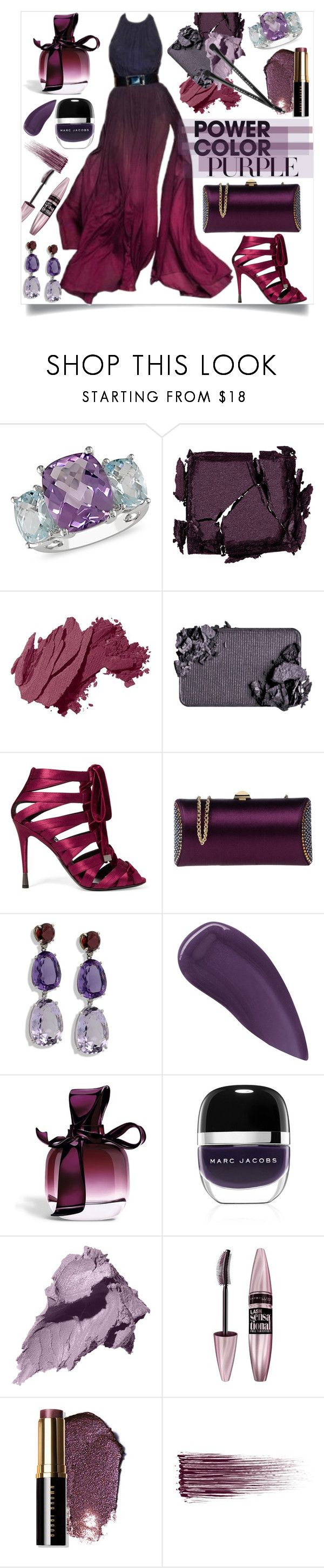 """PurplePower"" by midori-tokyoite on Polyvore featuring ファッション, Carolina Herrera, Ice, Surratt, Bobbi Brown Cosmetics, Tom Ford, Rodo, Lipstick Queen, Nina Ricci と Marc Jacobs"
