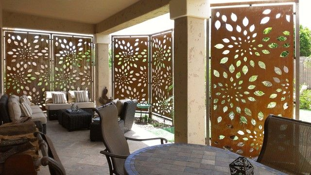 Contemporary outdoor patio privacy screens ideas for Outdoor privacy screen white
