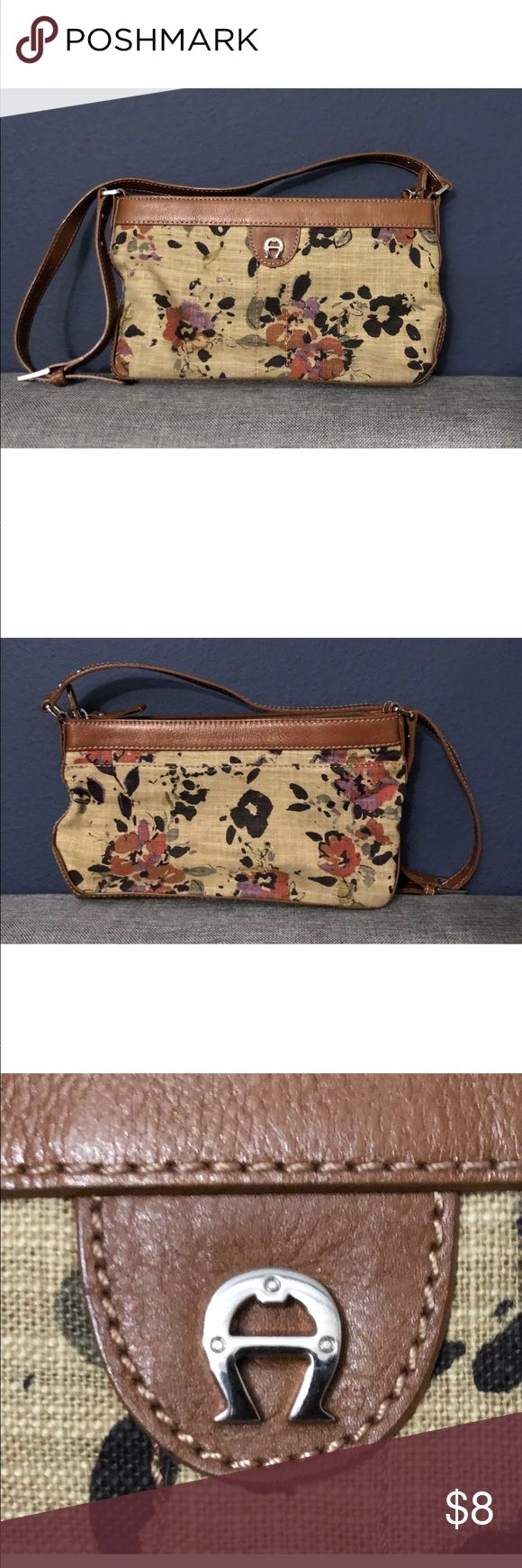 Etienne Aigner floral shoulder bag Pre owned with stains on the bottom Etienne Aigner Bags Shoulder Bags