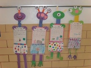 """Aliens Love Underpants with """"out of this world"""" writing activity."""