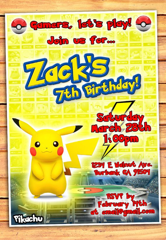 31 best video game party ideas gamer party images on pinterest pikachu birthday invitation pokemon video game partyvideo gamesideas stopboris Images