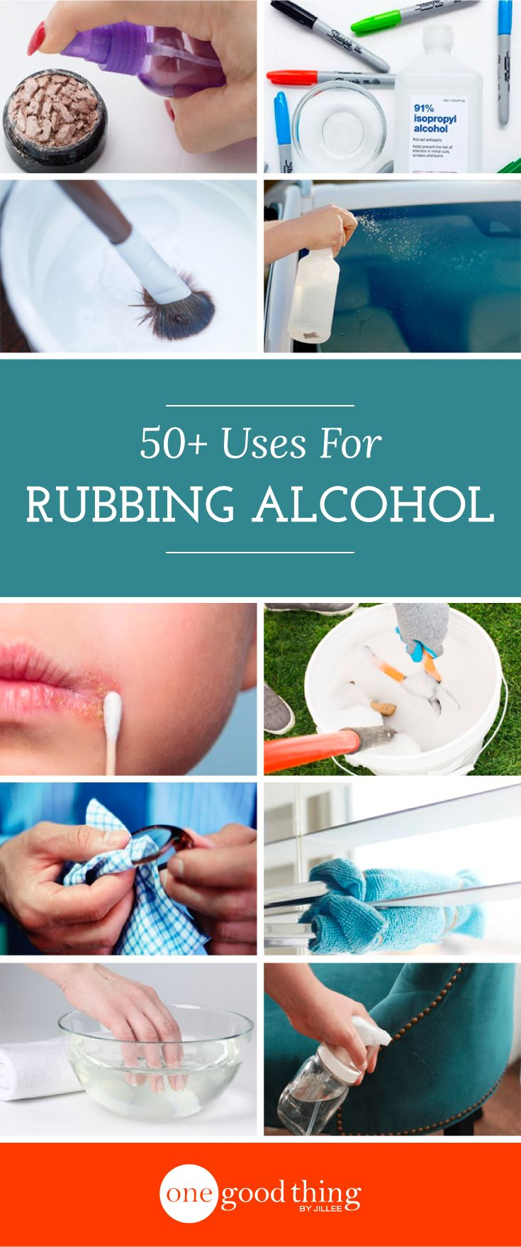 50+ Practical Uses For Rubbing Alcohol You Need To Try - One Good Thing by Jillee