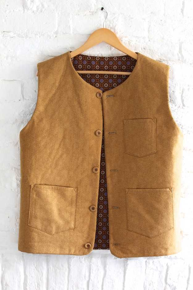sewing pattern for a mens gilet