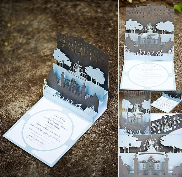 A 50u0027s Inspired Candy Anthony Gown A Colourful British American Wedding In  London. Pop Up InvitationInvitation ...