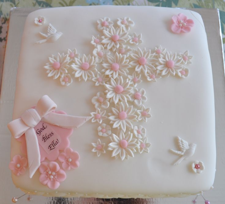 First Communion Cake Korri can you do this but in blue?