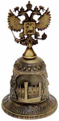 """картинка """"Кисловодск"""", колокольчик бронзовый с орлом магазин Сувениры КМВ"""