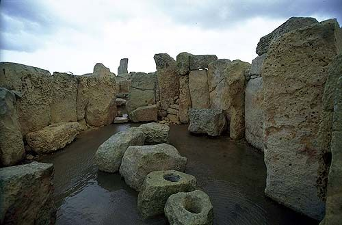 Neolithic temple of Hagar Qim, Island of Malta