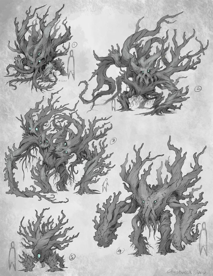 sketches - trees by *CxArtist on deviantART