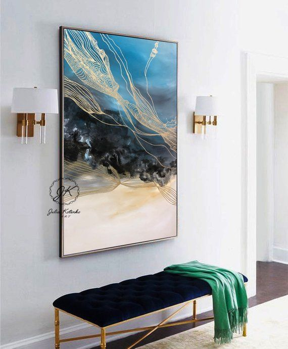 Abstract Painting Large Wall Art Textured Art Gold Etsy Abstract Painting Abstract Painting