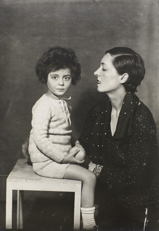 Artist/designer Eyre de Lanux with her daughter, Anne. By Man Ray, 1925.
