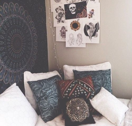 bedroom, decor, grunge, hippie, hipster, indie, room