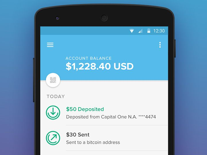 account balance bitcoin android material design