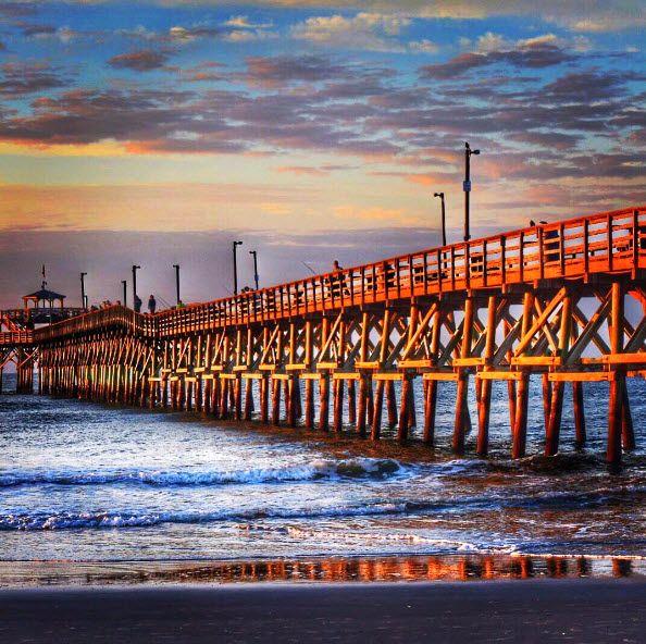 Cherry Grove Pier | North Myrtle Beach | South  Carolina | Fishing Pier | Photo via Instagram by @reece_photography_ |