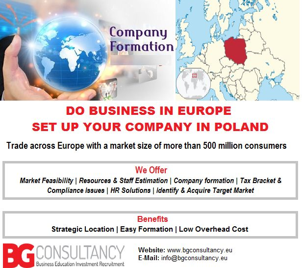 Trade in #Europe, open your #CompanyinPoland ..! BG Consultancy @ https://www.bgconsultancy.eu/business-consultancy.html