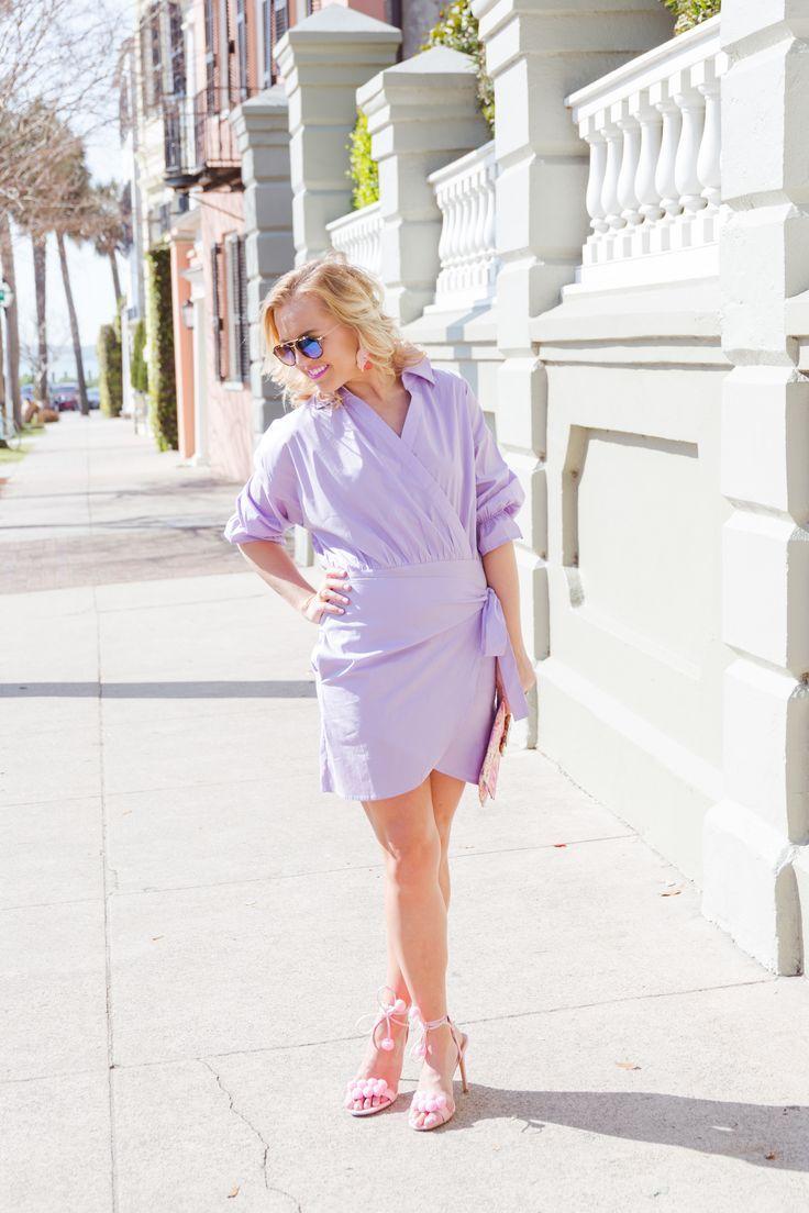 3e2d442b9c9 Reese s Hardwear Lavender Wrap Dress