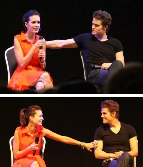 They're so cute! Paul Wesley & wife Torrey Devitto. TVD Cast. ♥