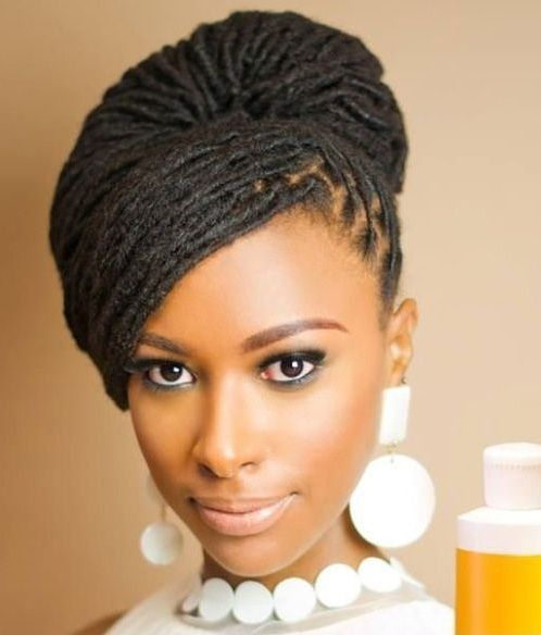 Adorable Braided Updo Wedding Hairstyles 2015 For Black Women