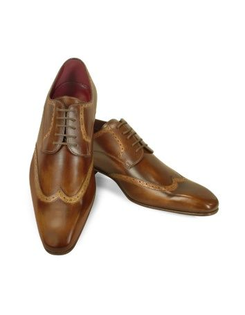 1920s Style Mens Shoes-   Handmade Light Brown Italian Leather Wingtip Dress Shoes $498.00  #mens #shoe #1920s