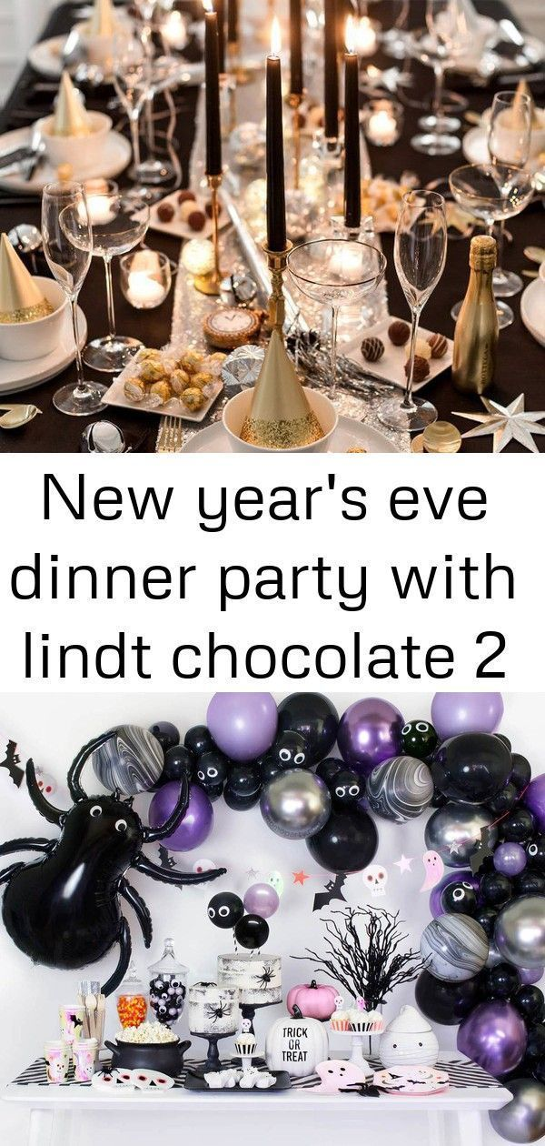 New Year's Eve Dinner Party with Lindt Chocolate