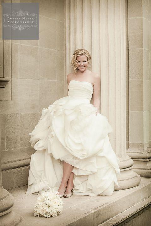 Houston Bridal Photography | Amy's bridal portraits. Super cute bridal portrait with columns. Unique bridal ideas. http://dustinmeyer.com