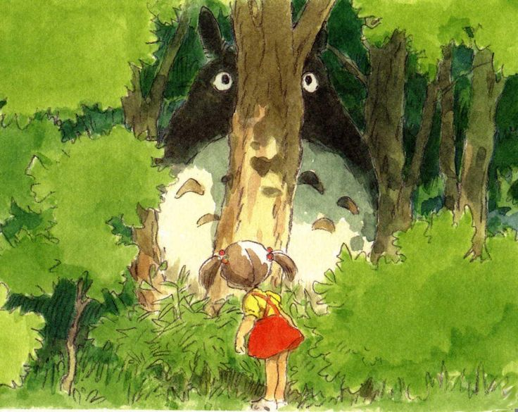 "My neighbor Totoro | ... となりのトトロ / My Neighbor Totoro (1988) - Character Design --- ""you can't see me!!"""