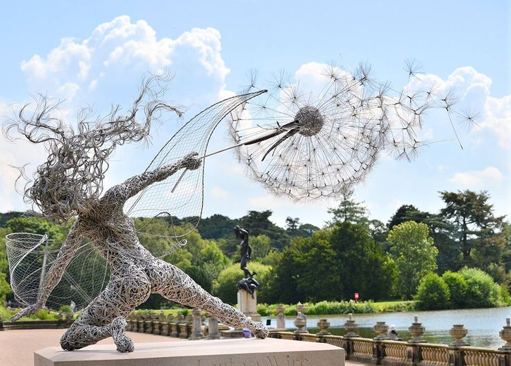 Dramatic Stainless Steel Wire Fairies by Robin Wight  http://www.thisiscolossal.com/2014/07/dramatic-stainless-steel-wire-fairies-by-robin-wight/