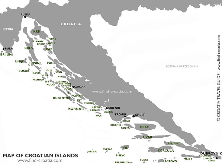 Croatia has more than thousand islands. All of them are dotted along Croatian coast of Adriatic Sea. Some of the islands are larger and inhabited, other are smaller and deserted..Croatian Islands are popular visitor's destination and they are very well connected by various ferries - ideal for island hopping holiday.. At bellow map of Croatian Islands, we pointed to most popular Croatian Islands - please click on appropriate name on the map of Islands of Croatia to find out more info about…