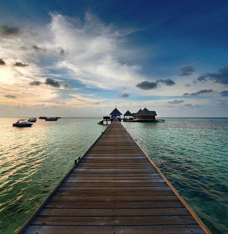 Evening shot of Kani Jetty, Maldives.