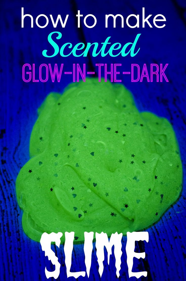 How To Make Scented Glowinthedark Slime  Essential Oils