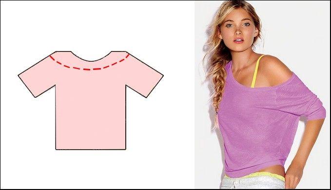 6 cortes para customizar uma camiseta
