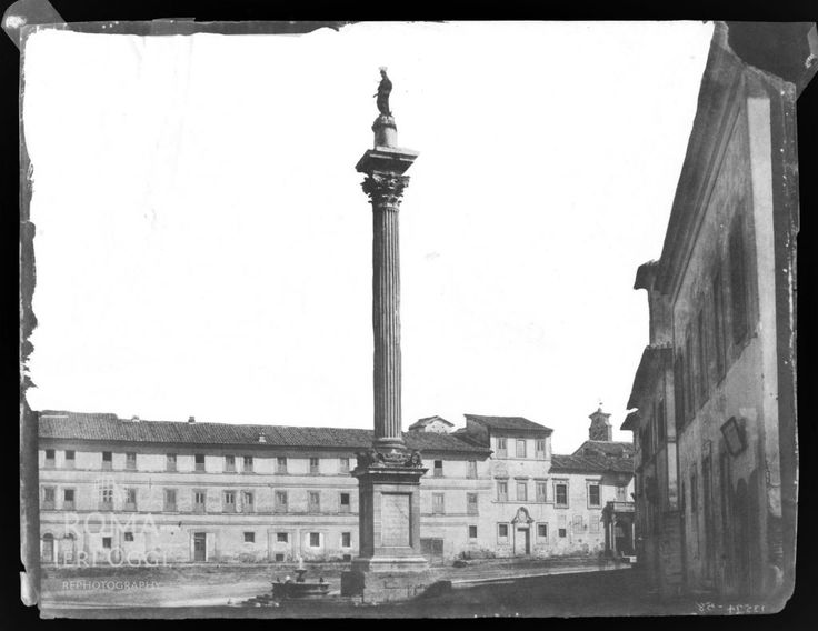 Piazza di Santa Maria Maggiore (1850 ca)   Roma Ieri Oggi