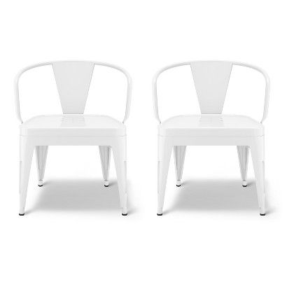 Industrial Kids Activity Chair (Set of 2) - Pillowfort™ - Campanula White