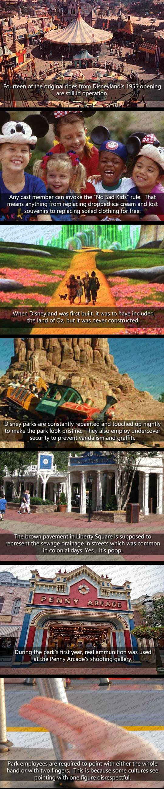 "Things You Don't Know About Disney World. I've totally had a cast member use the ""no sad kid"" rule for me when I was little! :)"