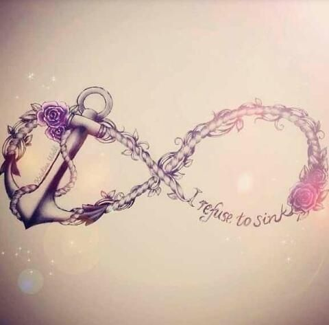 Love this anchor & infinity tattoo
