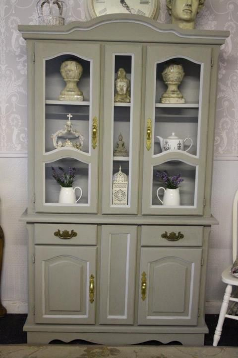 Hutch Makeover Before And After China Cabinet Makeovers
