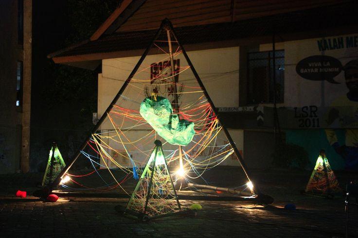 illuminati installation FETUS ART EXHIBITION 2011