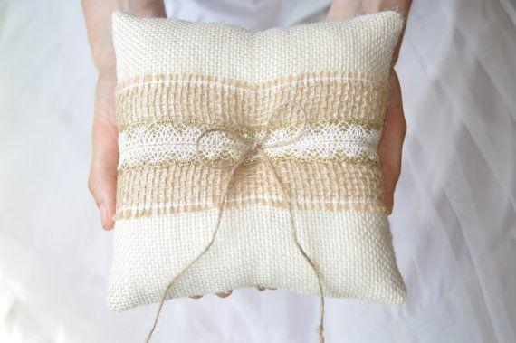 Tela da imballaggio anello cuscino avorio di NatalysWeddingArt