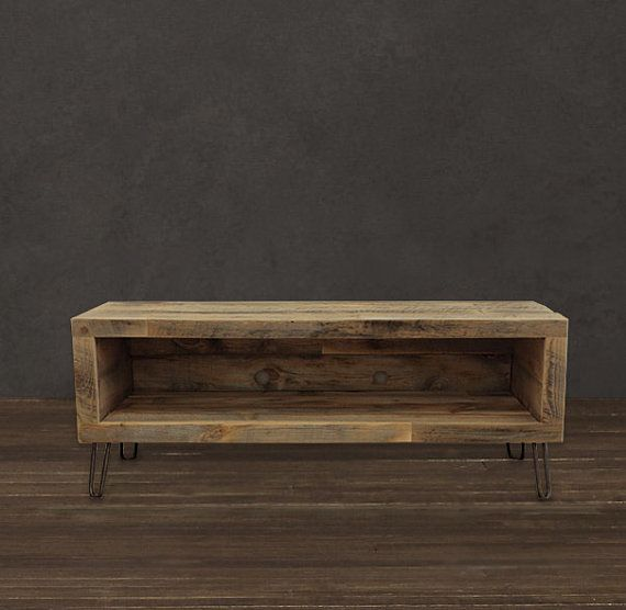 Reclaimed Wood Media Console / TV Stand 48 Long by AtlasWoodCo, $495.00 we could make this!!
