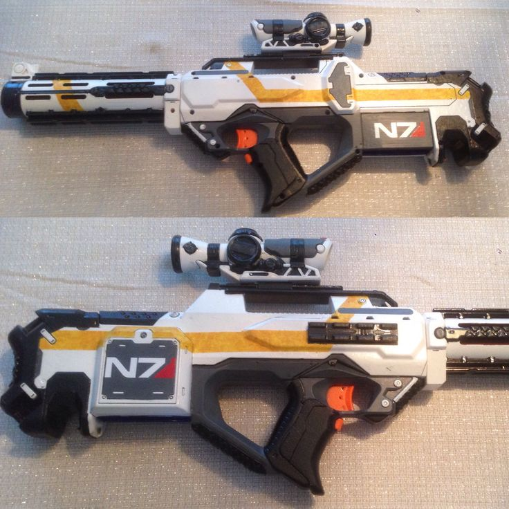 Converted a Nerf Rayven into a Mass Effect weapon.