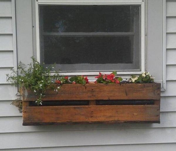 17 mejores ideas sobre jardineras con palets en pinterest - Jardineras con palets ...