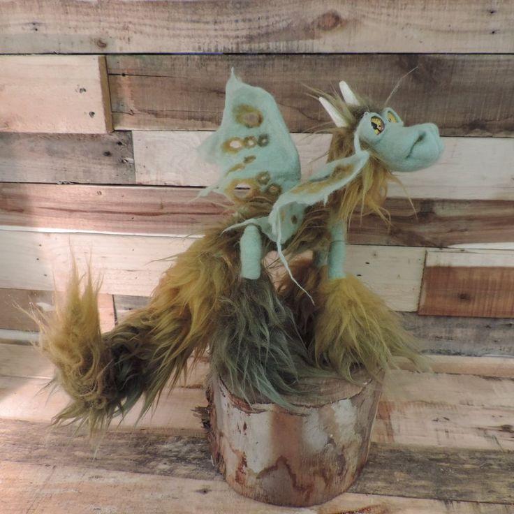 Golden Amber Dragon. Poeable fantasy art creature handmade ooak doll toy film  in Dolls, Bears, Dolls, Artist Offerings, OOAK | eBay!