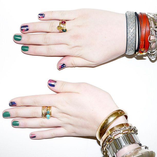 ncLA x Glamour Nail Wraps