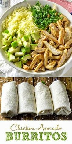 Beachbody Recipes - 21 Day Fix Chicken Avocado Burritos Amanda Hults: Yummy Recipe * Chicken Avocado Burritos