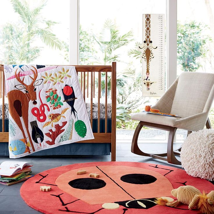 Nature never looked so fun! Charley Harper Florida Keys Crib Bedding for your brightly colored nursery.
