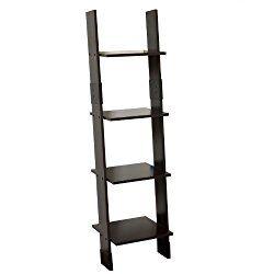 Zenna Home 9437CH, Wood Ladder Linen Tower, Espresso